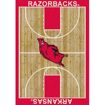"Milliken College Home Court (NCAA) Arkansas 01020 Court Rectangle (4000018281) 3'10"" x 5'4"" Area Rug"