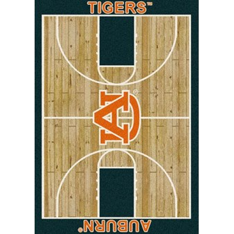 "Milliken College Home Court (NCAA) Auburn 01030 Court Rectangle (4000018452) 7'8"" x 10'9"" Area Rug"