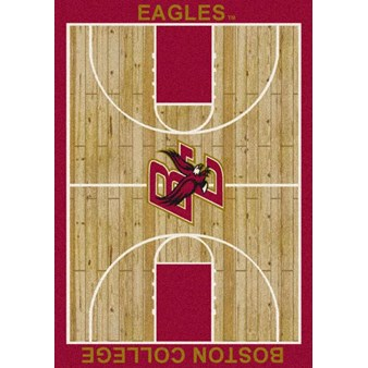 "Milliken College Home Court (NCAA) Boston College 01043 Court Rectangle (4000018453) 7'8"" x 10'9"" Area Rug"