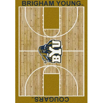 "Milliken College Home Court (NCAA) Brigham Young 01048 Court Rectangle (4000018369) 5'4"" x 7'8"" Area Rug"