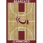 "Milliken College Home Court (NCAA) Cincinnati 01049 Court Rectangle (4000018285) 3'10"" x 5'4"" Area Rug"