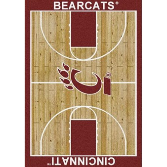 "Milliken College Home Court (NCAA) Cincinnati 01049 Court Rectangle (4000018370) 5'4"" x 7'8"" Area Rug"