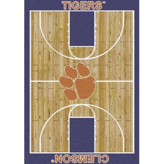 "Milliken College Home Court (NCAA) Clemson 01050 Court Rectangle (4000018456) 7'8"" x 10'9"" Area Rug"