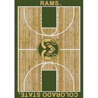 "Milliken College Home Court (NCAA) Colorado State 01065 Court Rectangle (4000018373) 5'4"" x 7'8"" Area Rug"
