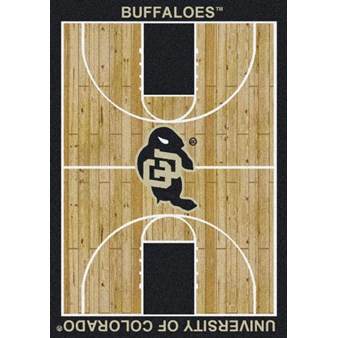 "Milliken College Home Court (NCAA) Colorado 01063 Court Rectangle (4000018457) 7'8"" x 10'9"" Area Rug"