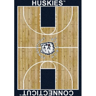 "Milliken College Home Court (NCAA) Connecticut 01067 Court Rectangle (4000018459) 7'8"" x 10'9"" Area Rug"