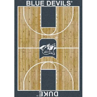 "Milliken College Home Court (NCAA) Duke 01512 Court Rectangle (4000018444) 5'4"" x 7'8"" Area Rug"
