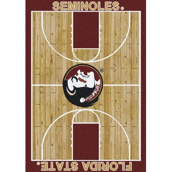 "Milliken College Home Court (NCAA) Florida State 01514 Court Rectangle (4000018530) 7'8"" x 10'9"" Area Rug"