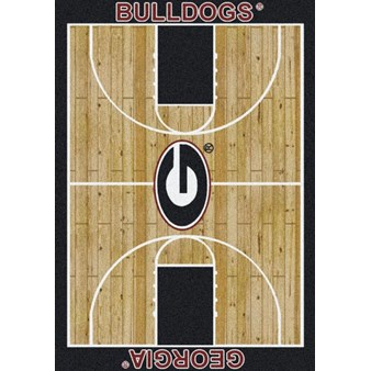 "Milliken College Home Court (NCAA) Georgia 01080 Court Rectangle (4000018460) 7'8"" x 10'9"" Area Rug"