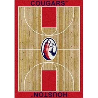 "Milliken College Home Court (NCAA) Houston 00387 Court Rectangle (4000018379) 5'4"" x 7'8"" Area Rug"
