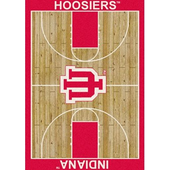 "Milliken College Home Court (NCAA) Indiana 01115 Court Rectangle (4000018468) 7'8"" x 10'9"" Area Rug"