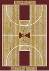 Milliken College Home Court (NCAA) Iowa State 01111 Court Rectangle (4000018296) 3'10