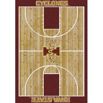 "Milliken College Home Court (NCAA) Iowa State 01111 Court Rectangle (4000018296) 3'10"" x 5'4"" Area Rug"
