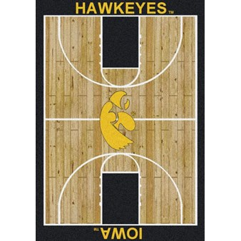 "Milliken College Home Court (NCAA) Iowa 01110 Court Rectangle (4000018465) 7'8"" x 10'9"" Area Rug"