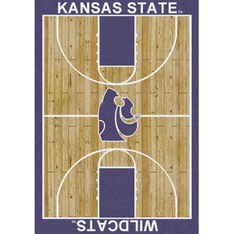 "Milliken College Home Court (NCAA) Kansas State 01125 Court Rectangle (4000018470) 7'8"" x 10'9"" Area Rug"