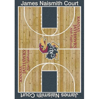 "Milliken College Home Court (NCAA) Kansas 01120 Court Rectangle (4000018384) 5'4"" x 7'8"" Area Rug"