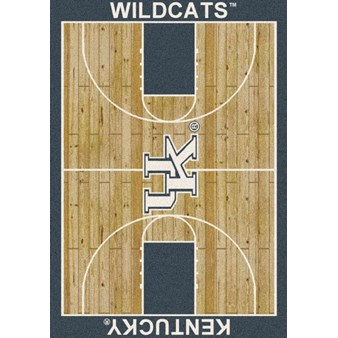 "Milliken College Home Court (NCAA) Kentucky 01140 Court Rectangle (4000018386) 5'4"" x 7'8"" Area Rug"