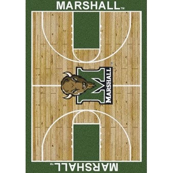 "Milliken College Home Court (NCAA) Marshall 01153 Court Rectangle (4000018389) 5'4"" x 7'8"" Area Rug"