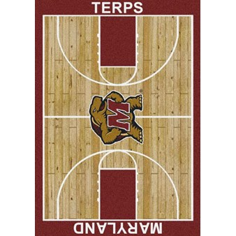 "Milliken College Home Court (NCAA) Maryland 01156 Court Rectangle (4000018475) 7'8"" x 10'9"" Area Rug"