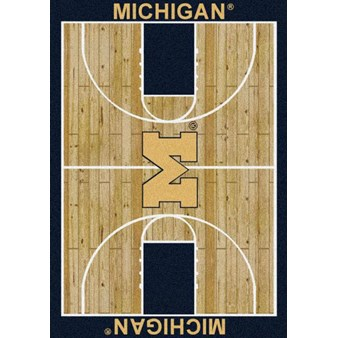 "Milliken College Home Court (NCAA) Michigan 01160 Court Rectangle (4000018308) 3'10"" x 5'4"" Area Rug"