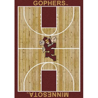 "Milliken College Home Court (NCAA) Minnesota 01185 Court Rectangle (4000018396) 5'4"" x 7'8"" Area Rug"