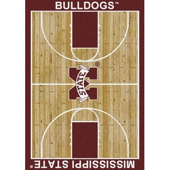 "Milliken College Home Court (NCAA) Mississippi State 01188 Court Rectangle (4000018483) 7'8"" x 10'9"" Area Rug"