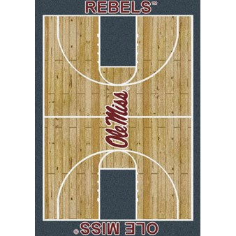 "Milliken College Home Court (NCAA) Mississippi 01186 Court Rectangle (4000018482) 7'8"" x 10'9"" Area Rug"