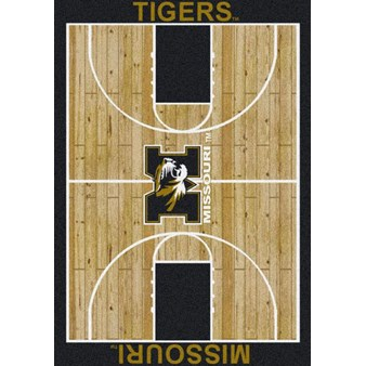 "Milliken College Home Court (NCAA) Missouri 01200 Court Rectangle (4000018484) 7'8"" x 10'9"" Area Rug"