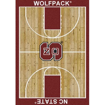 "Milliken College Home Court (NCAA) North Carolina State 01220 Court Rectangle (4000018400) 5'4"" x 7'8"" Area Rug"