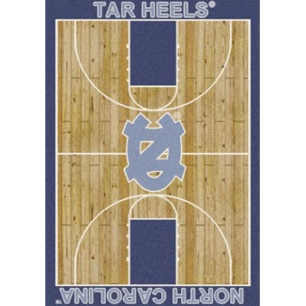 "Milliken College Home Court (NCAA) North Carolina 01250 Court Rectangle (4000018404) 5'4"" x 7'8"" Area Rug"