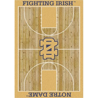 "Milliken College Home Court (NCAA) Notre Dame 01260 Court Rectangle (4000018490) 7'8"" x 10'9"" Area Rug"
