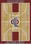 Milliken College Home Court (NCAA) Ohio State 01000 Court Rectangle (4000018277) 3'10