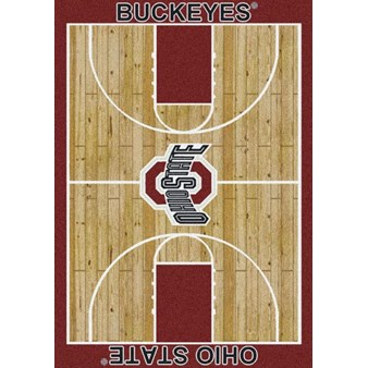 "Milliken College Home Court (NCAA) Ohio State 01000 Court Rectangle (4000018277) 3'10"" x 5'4"" Area Rug"