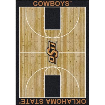 "Milliken College Home Court (NCAA) Oklahoma State 01290 Court Rectangle (4000018492) 7'8"" x 10'9"" Area Rug"