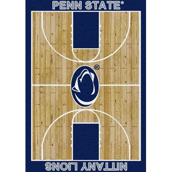 "Milliken College Home Court (NCAA) Penn State 01300 Court Rectangle (4000018495) 7'8"" x 10'9"" Area Rug"
