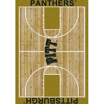 "Milliken College Home Court (NCAA) Pittsburgh 01330 Court Rectangle (4000018411) 5'4"" x 7'8"" Area Rug"