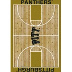 "Milliken College Home Court (NCAA) Pittsburgh 01330 Court Rectangle (4000018496) 7'8"" x 10'9"" Area Rug"