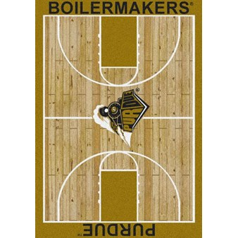 "Milliken College Home Court (NCAA) Purdue 01345 Court Rectangle (4000018412) 5'4"" x 7'8"" Area Rug"