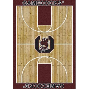 "Milliken College Home Court (NCAA) South Carolina 01350 Court Rectangle (4000018499) 7'8"" x 10'9"" Area Rug"