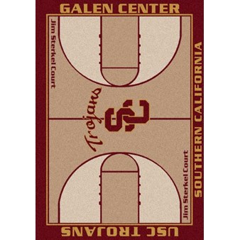 "Milliken College Home Court (NCAA) Southern California 01370 Court Rectangle (4000018416) 5'4"" x 7'8"" Area Rug"