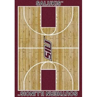 "Milliken College Home Court (NCAA) Southern Illinois 01380 Court Rectangle (4000018417) 5'4"" x 7'8"" Area Rug"