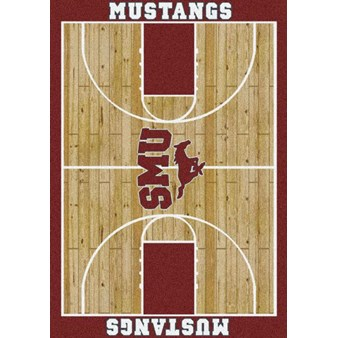 "Milliken College Home Court (NCAA) Southern Methodist 01390 Court Rectangle (4000018420) 5'4"" x 7'8"" Area Rug"