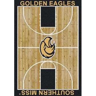 "Milliken College Home Court (NCAA) Southern Mississippi 01392 Court Rectangle (4000018506) 7'8"" x 10'9"" Area Rug"