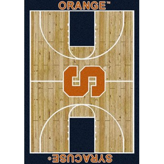 "Milliken College Home Court (NCAA) Syracuse 01395 Court Rectangle (4000018422) 5'4"" x 7'8"" Area Rug"