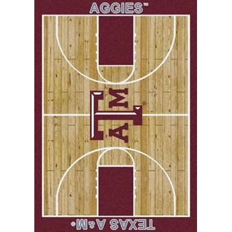 "Milliken College Home Court (NCAA) Texas A&M 01420 Court Rectangle (4000018511) 7'8"" x 10'9"" Area Rug"