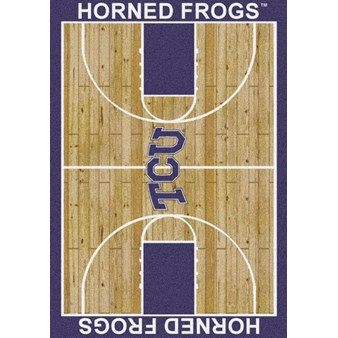 "Milliken College Home Court (NCAA) Texas Christian 01430 Court Rectangle (4000018512) 7'8"" x 10'9"" Area Rug"