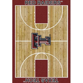 "Milliken College Home Court (NCAA) Texas Tech 01440 Court Rectangle (4000018513) 7'8"" x 10'9"" Area Rug"