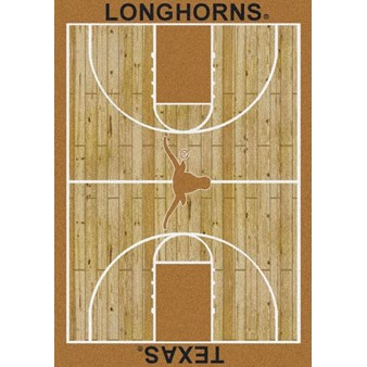 "Milliken College Home Court (NCAA) Texas 01410 Court Rectangle (4000018425) 5'4"" x 7'8"" Area Rug"