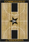Milliken College Home Court (NCAA) Vanderbilt 01453 Court Rectangle (4000018432) 5'4
