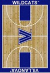 Milliken College Home Court (NCAA) Villanova 01448 Court Rectangle (4000018515) 7'8